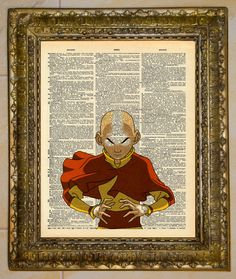 Avatar: The Last Airbender Aang Dictionary Art by atthedrivein
