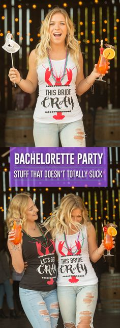 This bride CRAY! YAS! Perfect shirts for NOLA! Gotta get these for the Mardi Gras bachelorette