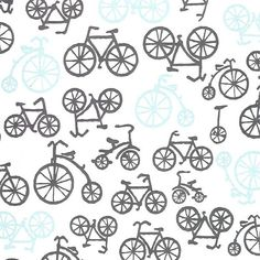 Bicycles in Haze Fabric  Michael Miller by ModernMommaFabric, $7.99