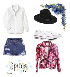 """First Spring Day in the Park"" by razaibrahimovic ❤ liked on Polyvore featuring Kate Spade, Converse, Lack of Color and Lacoste"