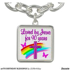 90TH BIRTHDAY BLESSINGS Enjoy our uplifting and inspiring selection of 90th birthday jewelry. 15% Off Sitewide Use Code: BESTBIZCARDZ http://www.zazzle.com/jlpbirthday/gifts?cg=196466070953440941&rf=238246180177746410  #90thbirthday #90yearsold #Happy90thbirthday #90thbirthdaygift #90thbirthdayidea #90yroldChristian  #happy90th #Blessed90th