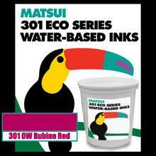Matsui 301 OW Rubine Red Water-Based Screen Printing Ink