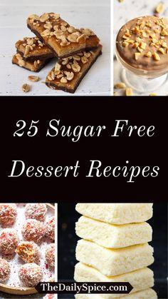 Sugar Free Deserts, Sugar Free Sweets, Sugar Free Cookies, Sugar Free Recipes, Healthy Sweet Treats, Healthy Desserts, Easy Desserts, Diabetic Friendly Desserts, Diabetic Recipes