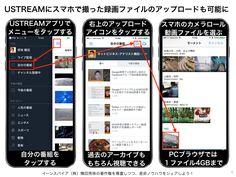 USTREAMでPCスマホの録画ファイルをアップロード可能へ http://yokotashurin.com/youtube/ustream-upload.html