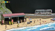 Diorama - Miniature Japanese Summer Beach ジオラマ ミニチュア海水浴場作り - YouTube