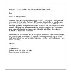 recommendation letter samples the employee recommendation letter is written by a manager 2244