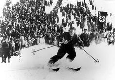The German skier Christl Cranz was one of the stars of the 1936 Winter Olympics. 2018 Winter Olympics, Winter Games, Olympic Games, Skiing, Greece, Photo Galleries, Germany, Around The Worlds, Athletes