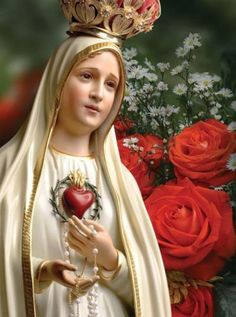 Chapter 5 - Valentine has a 2010 Our Lady of Fatima calendar Jesus Mother, Blessed Mother Mary, Blessed Virgin Mary, Mother Mary Images, Images Of Mary, Praying The Rosary, Holy Rosary, Madonna, Happy Birthday Mother