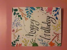 Floral birthday card #flowers #birthday #card #diy #girl #colorful