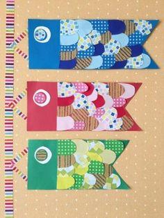 画用紙で作ったこいのぼり Diy Arts And Crafts, Diy Crafts For Kids, Paper Crafts, Boys Day, Japanese Festival, Punch Art, Origami, Kids Rugs, Artwork