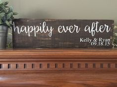Happily Ever After Sign And They Lived Happily by CreateDesignLive