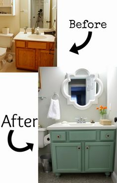 Home Decor On A Budget Pneumatic Addict : 7 Best DIY Bathroom Vanity Makeovers.Home Decor On A Budget Pneumatic Addict : 7 Best DIY Bathroom Vanity Makeovers Bathroom Vanity Makeover, Cabinet Makeover, Refinish Bathroom Vanity, Paint Bathroom Cabinets, Paint Vanity, Vanity Redo, Best Bathroom Vanities, Wood Vanity, Bathroom Mirrors