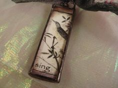 SING  Soldered Art Glass Pendant by victoriacharlotte on Etsy, $9.00