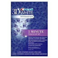 Crest 3D White Stain Shield 5 Minute Touch-Ups Teeth Whitening Strips - 56 Count