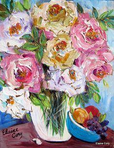 Bodegón fruta Original pintura 11 x 14 por por ElainesHeartsong
