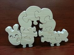 Inchworm  Childrens Wood Puzzle Game  New Toy  by GrampsWoodShop, $17.95
