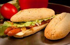 LowCarb Hot Dog Brötchen - mit Kokosmehl, Mandelmehl + Flohsamen (sehen normalen Brötchen sehr ähnlich!)