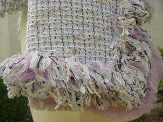 Detail of Chanel tweed jacket