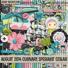 August 2014 STO Cullinary Specialist Collab http://scraptakeout.com/shoppe/Culinary-Specialists-Collab-August-2014.html