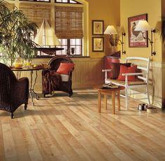 Armstrong Premium Lustre Laminate Flooring Pack Square Feet per Case Pack) (American Maple), Beige Wide Plank Flooring, Brick Flooring, Engineered Hardwood Flooring, Types Of Flooring, Vinyl Flooring, Hardwood Floors, Flooring Ideas, Kitchen Flooring, Mesas