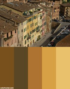 View Of Siena Color Palette Siena, Color Schemes, Palette, Building, R Color Palette, Colour Schemes, Buildings, Pallets, Construction