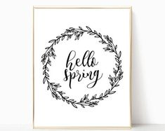 Shop for farmhouse sign printables on Etsy, the place to express your creativity through the buying and selling of handmade and vintage goods. Hello Spring, Farmhouse Signs, Printables, Etsy, Handmade, Positive Feedback, Art Ideas, Profile, Tutorials