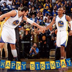 #DubNation, please join us in wishing Andrew Bogut & Leandro Barbosa a very Happy Birthday!