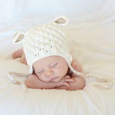 Gorrito lana oveja disfraz bebe recien nacido