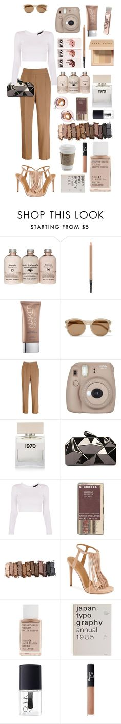 """""""Kendall+Kylie brown"""" by emiliajenner ❤ liked on Polyvore featuring Martha Stewart, MAC Cosmetics, Urban Decay, Yves Saint Laurent, Nina Ricci, Bella Freud, WithChic, Korres, Kendall + Kylie and NARS Cosmetics"""
