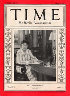 Willa Cather TIME ISSUE DATE: Aug. 3, 1931