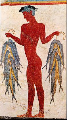 A fisherman from Thera (Minoan civilication, around 1550 BCE)
