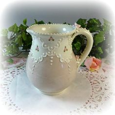 Delightful Small Taupe Pitcher