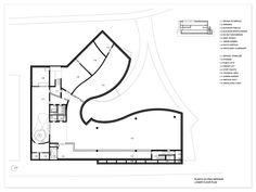 Black & White Plans [8] Mimesis Museum Alvaro Siza + Carlos Castanheira + Jun Sung Kim via