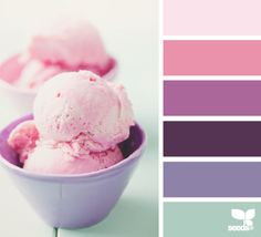 color scooped--interesting with the purple in there