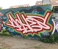 ACHES Graffiti Piece, Graffiti Wall Art, Graffiti Lettering, Mural Art, Freaky Deaky, Street Mural, Wild Style, Stencil Art, Word Art