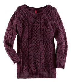 Oxblood cable knit sweater
