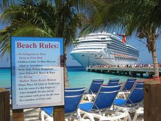 Beach Rules!  2009 Carnival Cruise Grand Turk by Brian P. Bay City, MI,