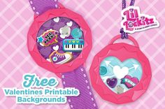 Free valentines printable backgrounds to include in your #LilLockitz locket designs | alexbrands.com