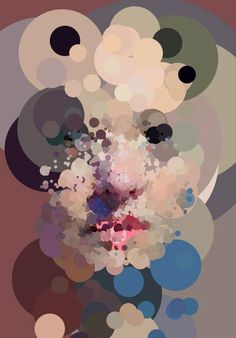 """Circles of trust"" - Sergio Albiac {abstract female head woman face profile generative portrait painting} <3"