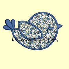 Motif broderie machine appliqué oiseau                                                                                                                                                     Plus Birds, Potholders, Color, Tela, Scrappy Quilts, Recipes, Ducks, Appliques, T Shirts