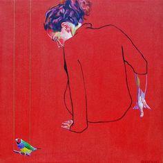 Undone Beauty: Emotional Portraits by Cristina Troufa from Lisbon - Stew, Art Journal Cristina Troufa, Expressionist Portraits, A Level Art, Human Art, Figure Painting, Contemporary Artists, Art Projects, Elsa, Illustration Art