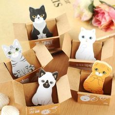 Specialty Gifts and Cat In The Box Stickies at Perpetual Kid. Always think out of the box! Unless you're a cat, then always do your stalking and plotting from