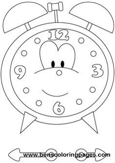 Time Clock printable coloring book