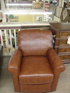 Flexsteel leather swivel glider $775.00