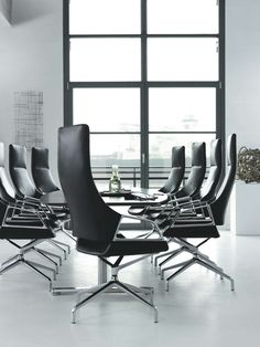 Designers Markus Jehs and Jürgen Laub develop a new, high-end range of conference chairs for Wilkhahn. At the design's core is a seat shell that can be detac. Office Seating, Office Chairs, Office Furniture, Conference Chairs, Conference Room, Meeting Table, Meeting Rooms, Minimalist Office, Chair Design