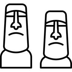 Easter Island Moai, Easter Island Statues, Fade Up, Wood Carving For Beginners, Island Crafts, Island Tattoo, Statue Tattoo, Stick N Poke Tattoo, Tiki Party