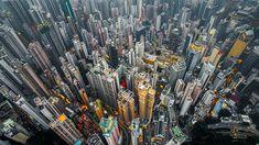 Des photos prises par un drone révèlent la densité monstre de gratte-ciel à Honk-Kong