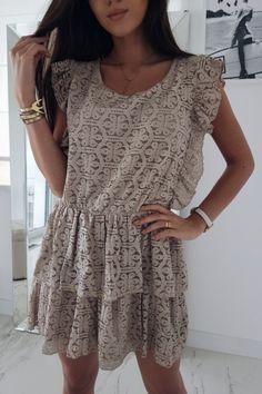 Sukienka Olivia koronka mocca