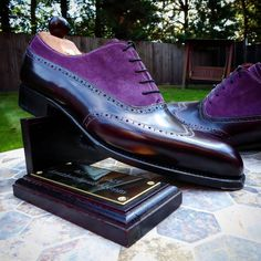 "ascotshoes: ""The colour purple, a distinctively beautiful —————————————- Ascot Shoes will be showcasing a unique selection Vass MTO'S at the Marriott Park Lane Hotel on 5th April @marriottparklane For..."