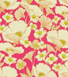 Home Decor Print Fabric- HGTV HOME Poppy Power Passion Fruit ...